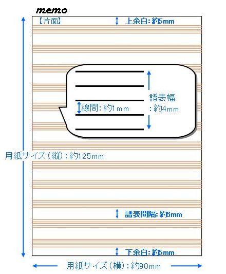 メモ帖(はぎとり) 12段 memo
