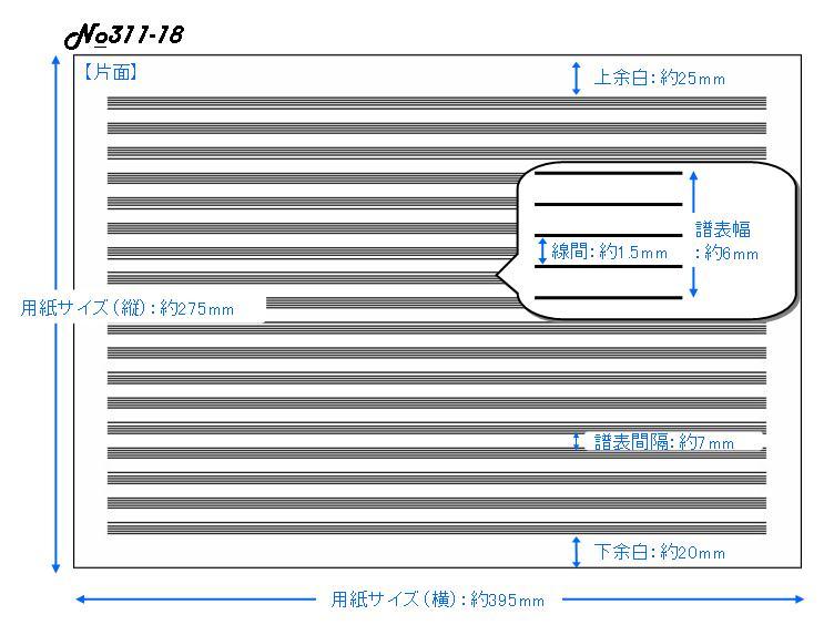 ミュージックパッド 18段 No.311-18