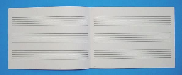 五線帳 3段 No.N-3