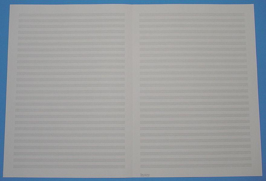 五線紙 26段 No.17-26
