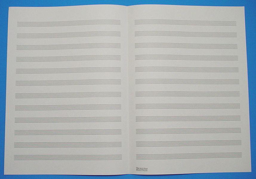 五線紙 12段 No.2B-12