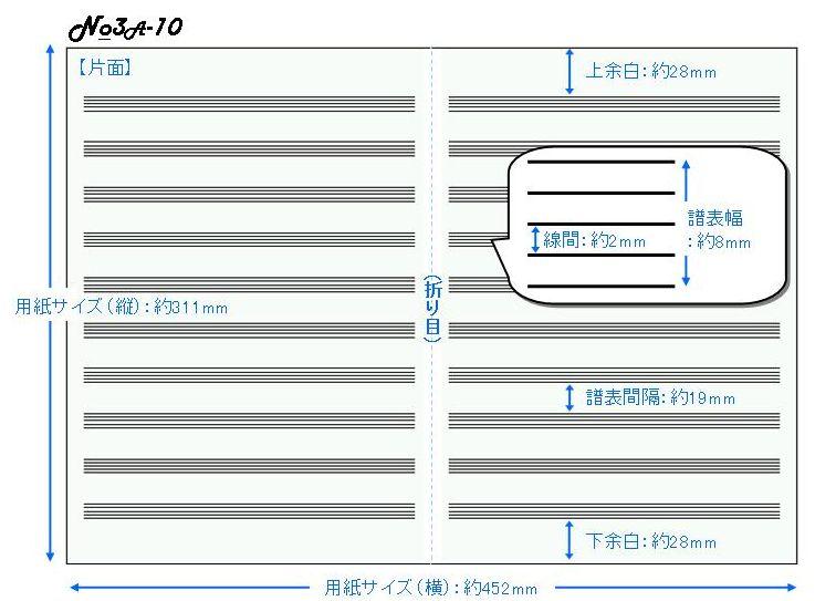 五線紙 10段 No.3A-10