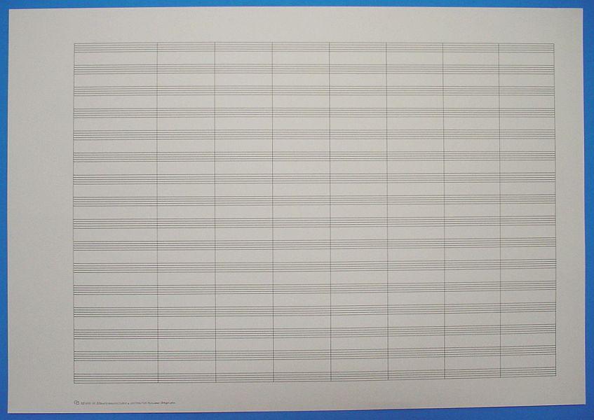 五線紙 16段 No.600-16