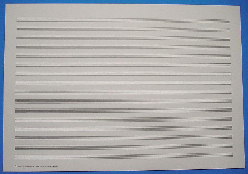 五線紙 16段 No.603-16